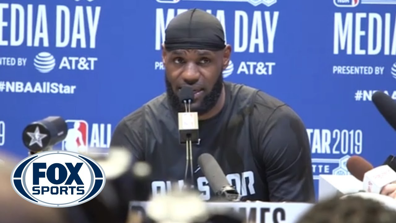 a972d2c20e2e LeBron James gives a shoutout to students at  I Promise School ...