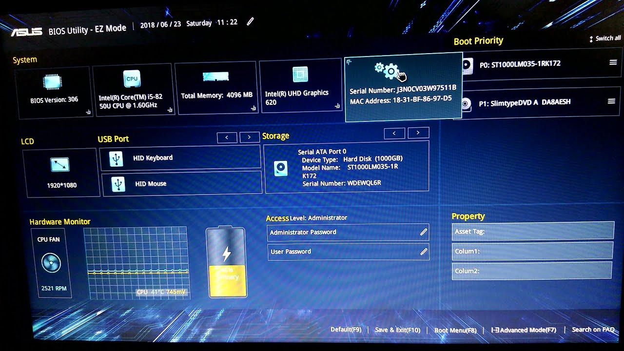 asus uefi bios utility ez mode windows 10