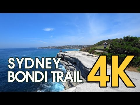 【4K SYDNEY WALKING TRAIL】 Bondi To Bronte Coastal Walk In Sydney, Australia