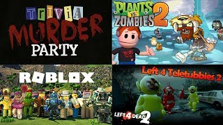 EASTER MONDAY LIVESTREAM | PVZ 2 - LEFT 4 DEAD 2 - ROBLOX STOP IT SLENDER - TRIVIA MURDER PARTY