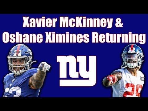 NY Giants: Return of the Xmen - Xavier McKinney & Oshane Ximines returning soon