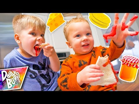Kids Try Making Their Lunch! 🤢