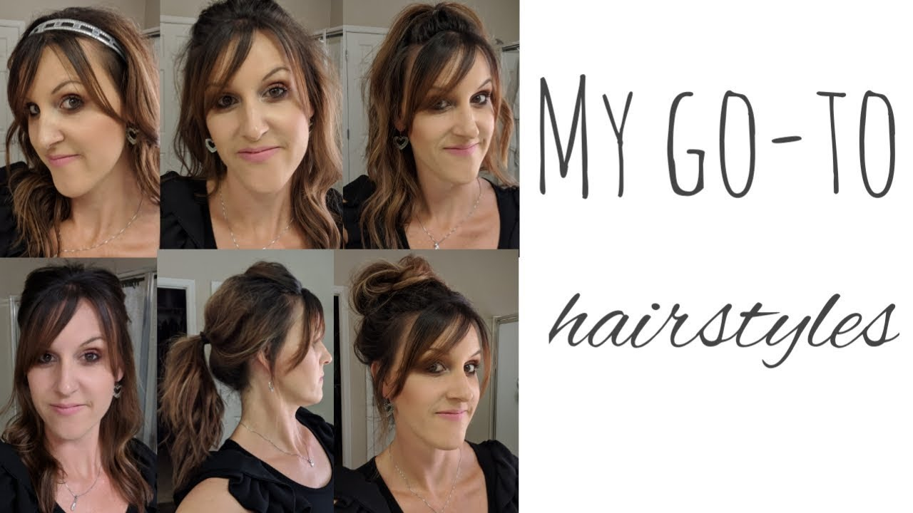 my go-to hairstyles || easy for moms on the go