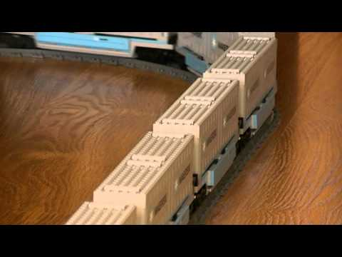 5.11 meters long Lego Maersk train