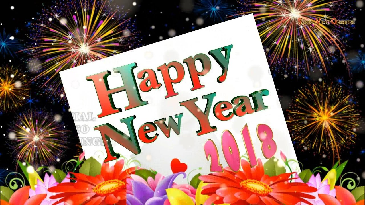 Happy New Year 2018 Wishes Images Quotes Whatsapp Animation
