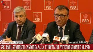 Paul Stănescu candidează la funcția de vicepreședinte al PSD