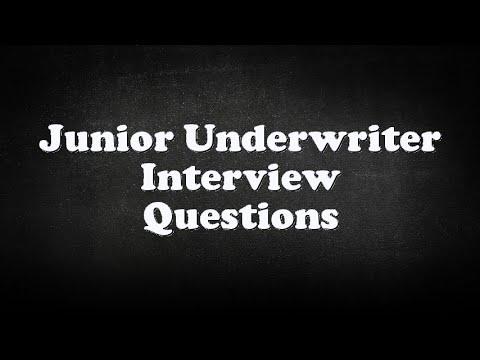 Junior Underwriter Interview Questions - YouTube