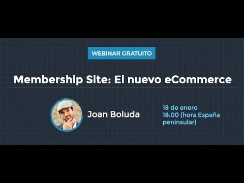 Membership Site - webinar con Joan Boluda