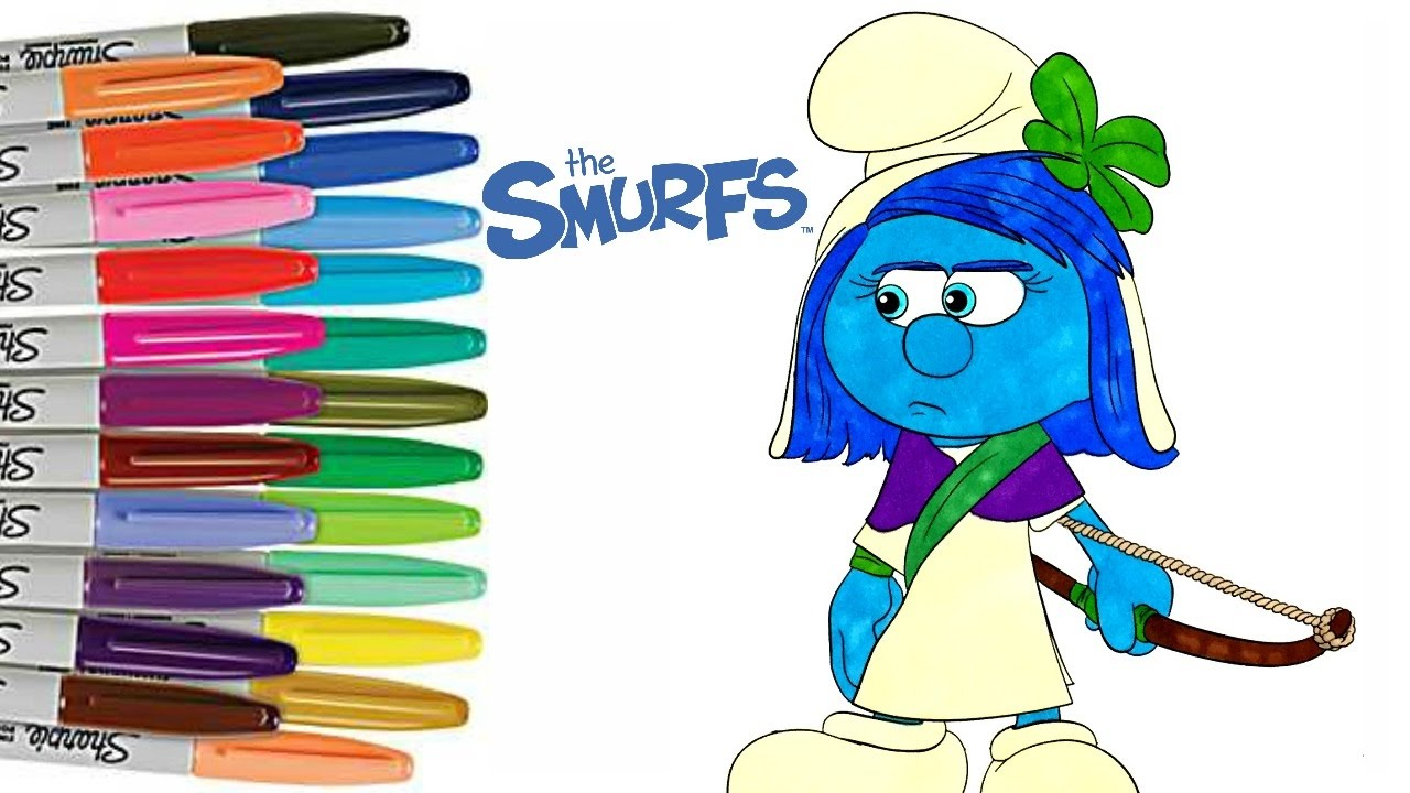 Smurfs The Lost Village SMURFSTORM Coloring Book Page How To Color