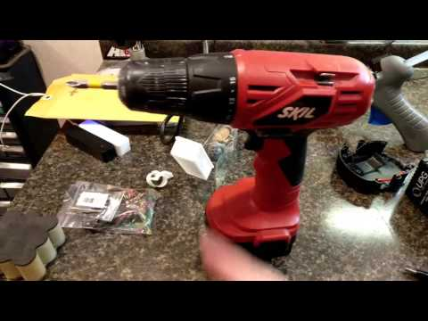 Converted SKIL drill to sealed lead acid battery
