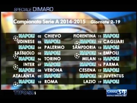 Calendario Prossime Partite Napoli.Calendario Di Serie A Le Partite Del Napoli Tifosi 28 07 14