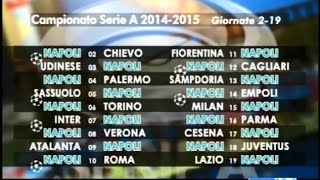 Calendario di Serie A: le partite del Napoli - Tifosi 28/07/14