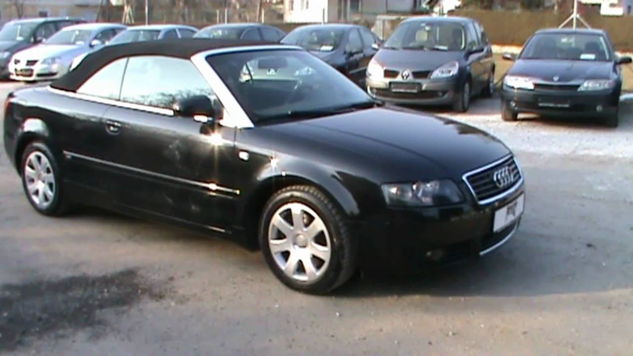 2004 audi a4 cabriolet 1 8 t review start up engine and in depth tour youtube. Black Bedroom Furniture Sets. Home Design Ideas