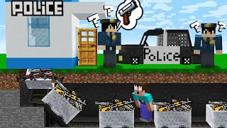 HOW to ROBBERY POLICE STATION in Minecraft Noob vs Pro