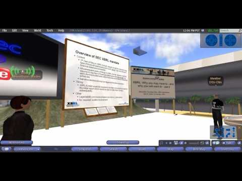 XBRL Training from Second Life on CPA Island