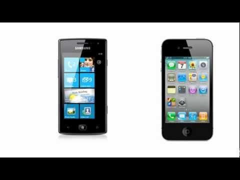 Samsung Omnia W I8350 VS Apple iPhone 4 CDMA, comparison