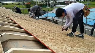 ALC주택지붕 단열재고정 환기벤트 OSB합판 피스고정ㅡ…