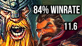 OLAF vs GRAVES (JUNGLE) | 84% winrate, 12/2/5, Legendary | KR Master | v11.6