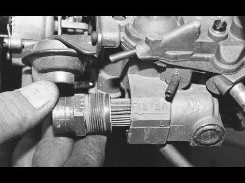 Quadrajet Carburetor Fuel Filter Replacement DIY
