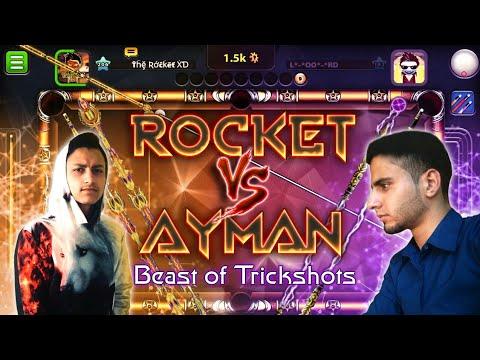 The Rocket Vs Loord Ayman 🔥- Sick TrickShots 💣- 8 Ball Pool #Part1  - روكيت ضد لورد ايمن 💥