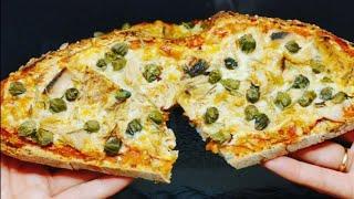 Cena facil, rapida y solo necesitas 10 minutos para la preparación | Pizza con rebanadas de pan