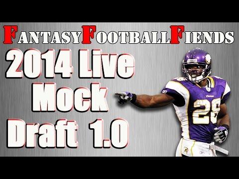 2014 Fantasy Football Live Mock Draft 1.0 || #FF Fiends