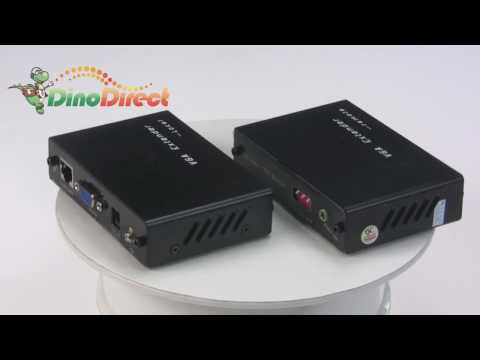 Monitor VGA 300ft (100m) Video Extender (Receiver & Transmitter) Kit VGA-100HK  from Dinodirect.com