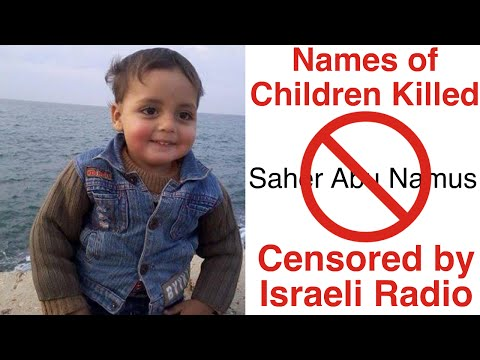 Israeli Radio Won't Allow These Gazan Children's Names to be Read On Air
