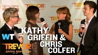 Kathy Griffin & Chris Colfer at TrevorLive! Red Carpet | What's Trending LIVE