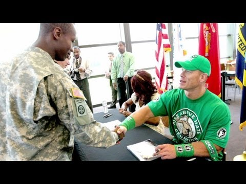 John Cena and Alicia Fox visit wounded warriors at Walter  Reed National Military Medical Center