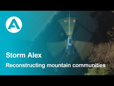 Storm Alex: How helicopters are helping reconstruct devastated mountain communities