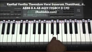 anjali anjali pushpanjali piano tutorials tamil   gamakas included