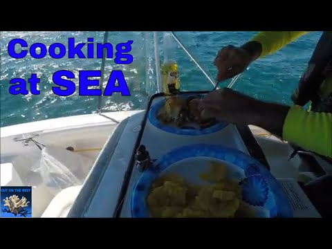 Fishing and Cooking The Catch Miami to Bimini Bahamas Solo Gulfstream Crossing