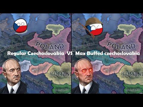 Max Buffed Czechoslovakia vs Regular Czechoslovakia | Double Timelapse (HOI4 AI Only) |