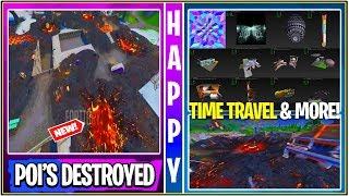 Fortnite : Fuite de tours inclinées et rangée de détail détruite ! 'GAMEPLAY' (Voyage dans le temps!)