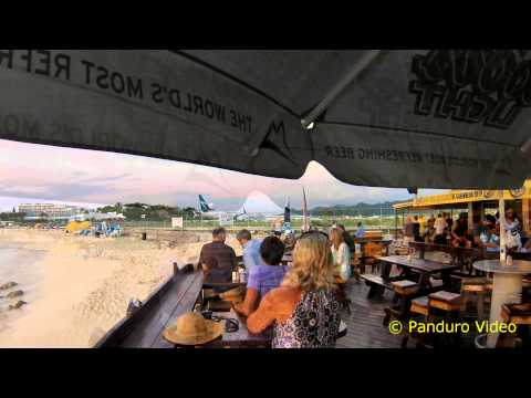 St Maarten Sunset Bar Maho Beach