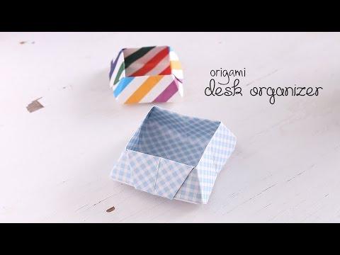 DIY: Origami Desk Organizer