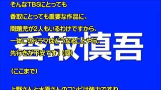 香取慎吾の新ドラマ「家族ノカタチ」が早くも大ピンチ!?上野樹里と水...