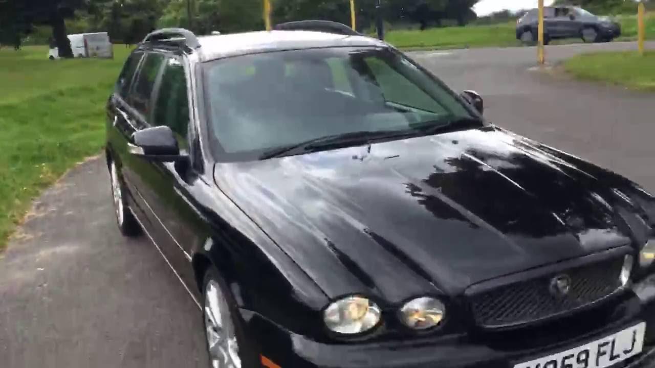 Black Jaguar X Type 2 2 Turbo Diesel SE 6 Speed Auto Estate Sat Nav ...