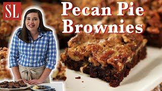 SWEET and GOOEY Pecan Pie Brownies | Layers of Deliciousness | South's Best Recipes