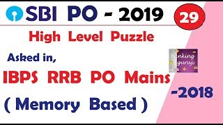 Memory Based Puzzle Asked in IBPS RRB PO MAINS 2018