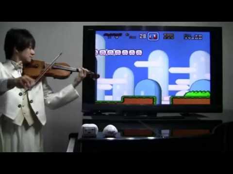 super mario world en violin