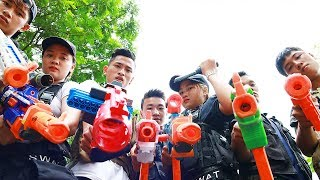 3T Nerf War : Squad Alpha Two Special SWAT Nerf guns Fight High-Tech Crime
