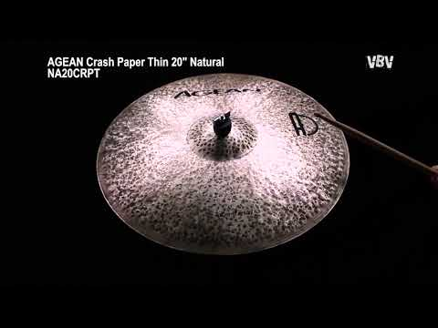 "20"" Crash Paper Thin Natural video"