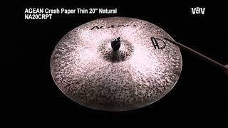 """Crash Paper Thin 20"""" Natural vidéo"""