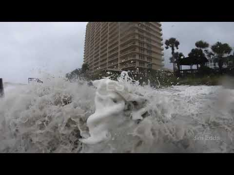 Hurricane Michael Storm Surge on Panama City Beach, FL