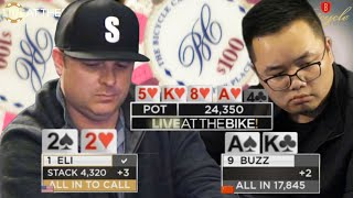 Amazing Hero Call for $15,000 ♠ Live at the Bike!
