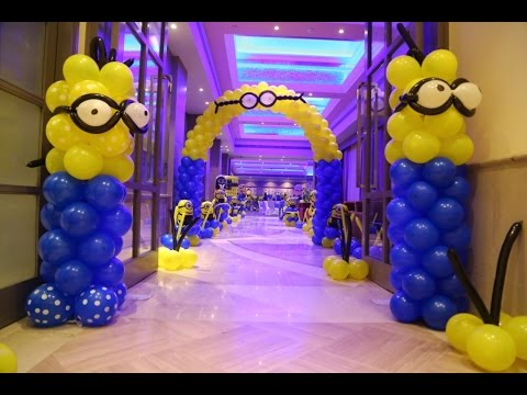 Minion Theme Birthday Party YouTube