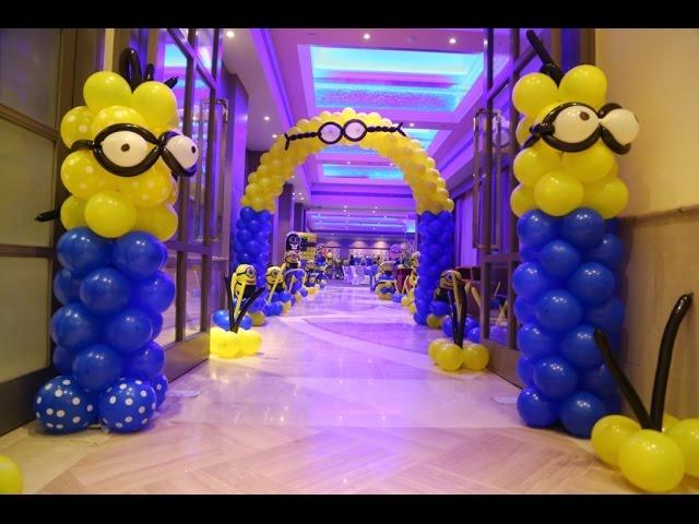Minion Theme Birthday Party Youtube
