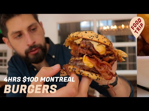 Montreal's Best Burger Tour In 4 Hours with $100 | Food Trip